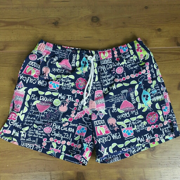 69f721332ee865 Lilly Pulitzer Swim | Drinks On Me Mens Trunks | Poshmark